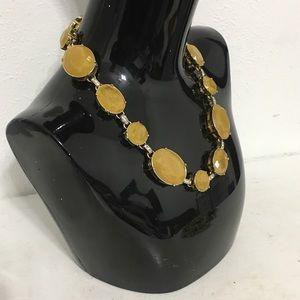 Ann Taylor Chunky Yellow Clear Rhinestone Necklace